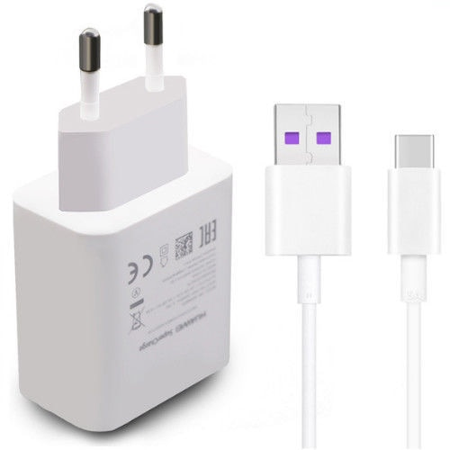 Chargeur Huawei 4.5V 5A 22.5W 40W pour P20 Pro P30 P40 Lite Mate 10 Mate 20 30 Pro 5A Type c-cable