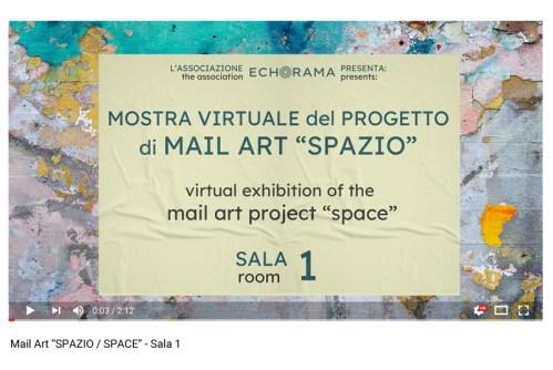 Video esposizione virtuale Mail Art Spazio - Sala 1