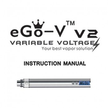 EGO-V Variable Voltage Battery Instruction Manual