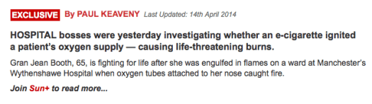 Sun E Cig Headline