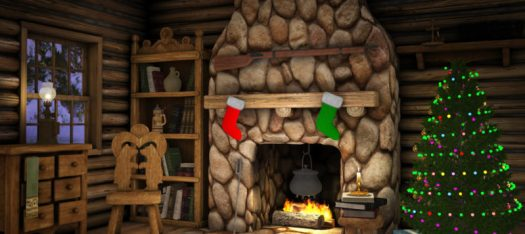 Christmas vaping hampers log cabin