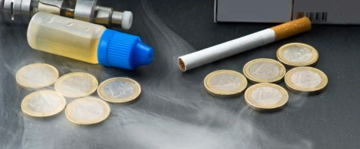 vaping is less addictive than smoking
