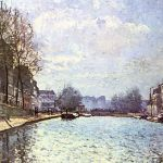 View of the Canal Saint-Martin by Alfred Sisley, Orsay Museum, 1870
