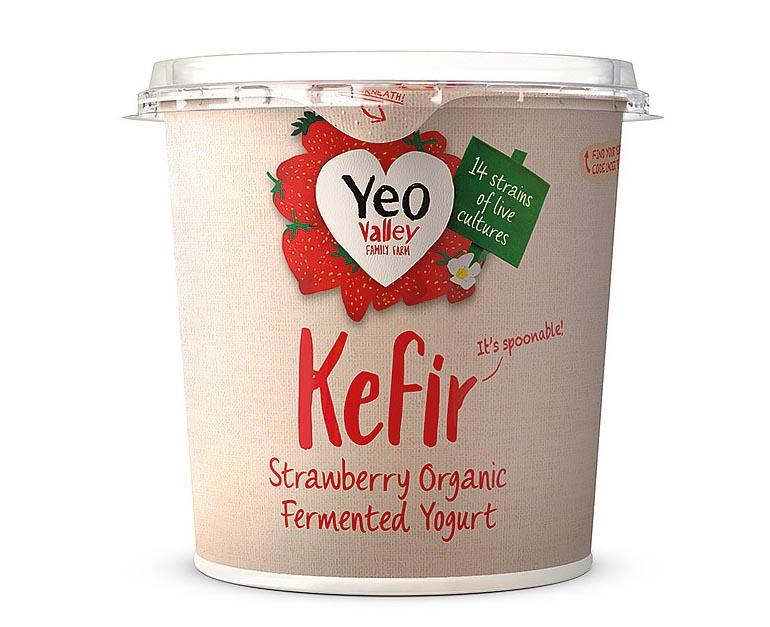 Yeo Valley Kefir Strawberry Organic Yogurt 350g - Eckos Online