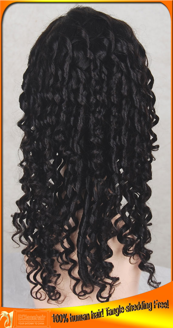 Spiral Curl Full Lace Wigs Human Hair FactoryWholesale