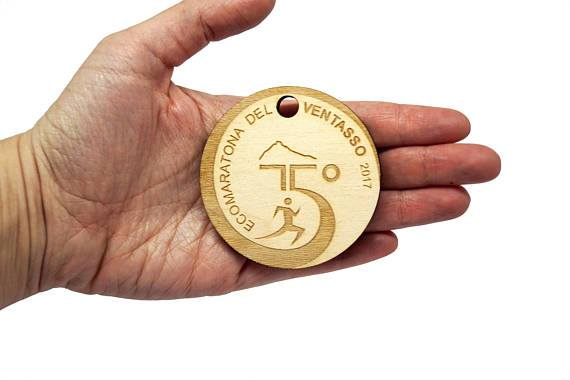 medaglie in legno
