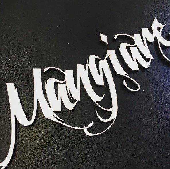 lettere plexiglass legno