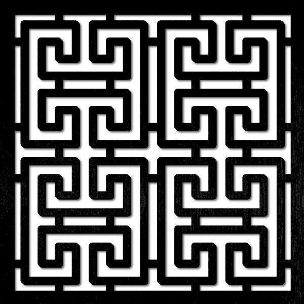pattern 19 pannelli divisori taglio laser