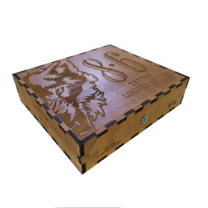 scatola legno verniciato