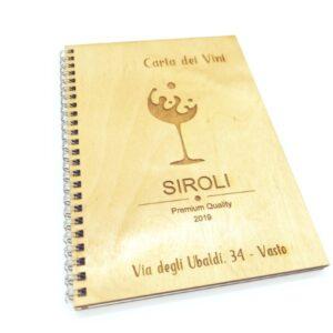 quaderno con copertina in legno