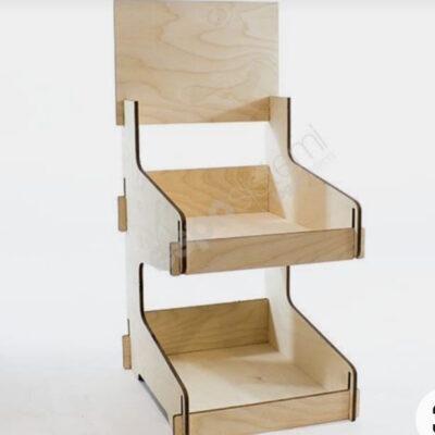 espositore in legno da banco