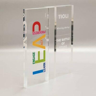 trofeo stampato inciso