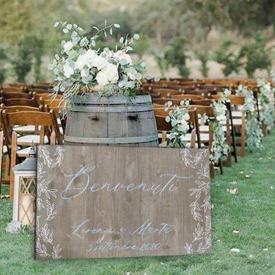 decorazione esterno matrimonio