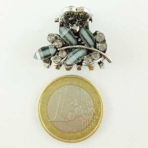 Petite pince crabe argentée Flaya