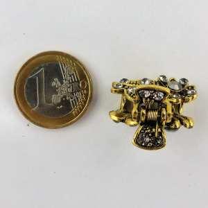 Petite pince crabe dorée Muse