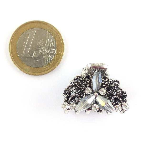 Petite pince crabe argentée Salma