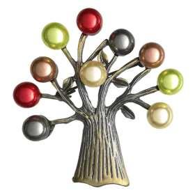 broche-arbre-de-vie-perles-nacrées-multicolore