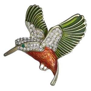 Broche Colibri Strass en Cristal