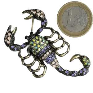 Broche Scorpion Strass en Cristal