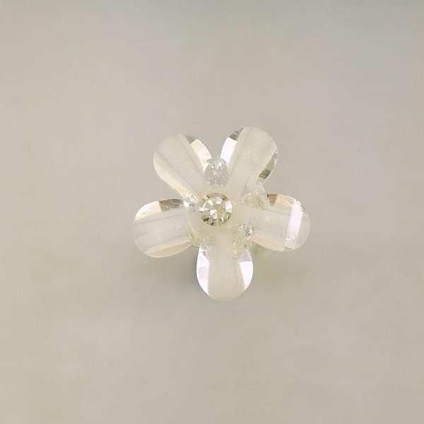 5 Epingles à Cheveux Fleur de verre 10 mm