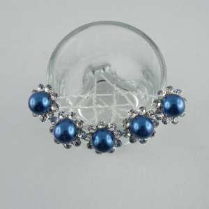 5 Epingles Perles couleur et strass