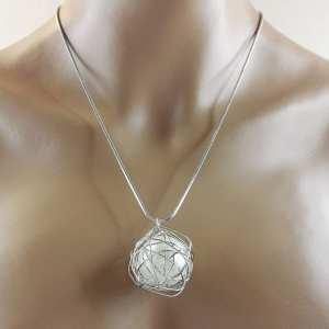 Sautoir  sautoir en métal argenté Pearl