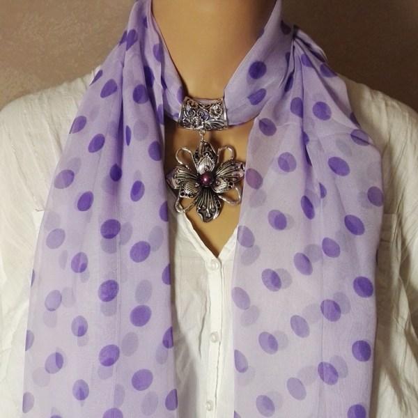 Bijou pour foulard Fleur