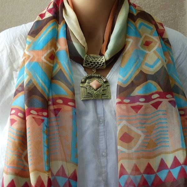 Foulard Motifs Géométrique Azteck