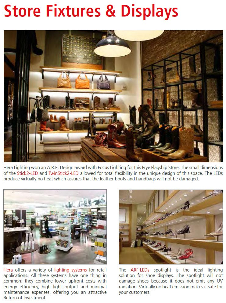 Store Fixture Light Display Systems  Eclecticware