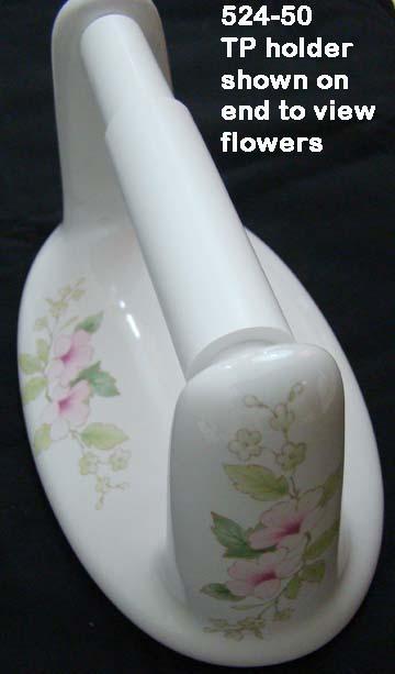Lenape Classic  Blossoms Porcelain Bath Hardware