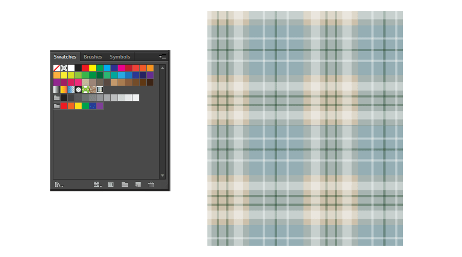 How to Make a Plaid Pattern Step 13