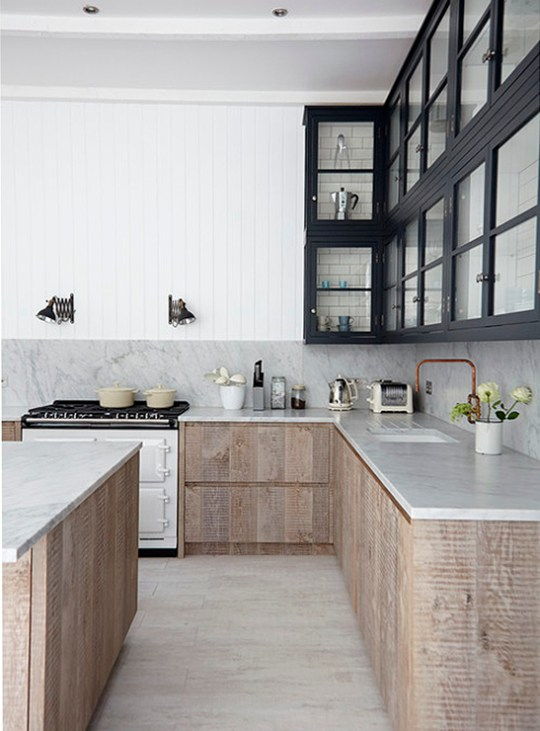 5 kitchen trends-rough wood-Eclectic Trends