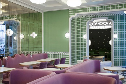 A very trending color combo: India Mahdavi's new concept for La Durée