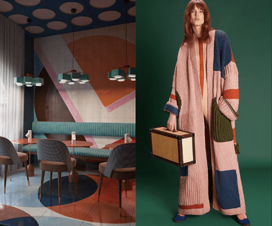 When Interior Design Meets Fashion:Color Blocking