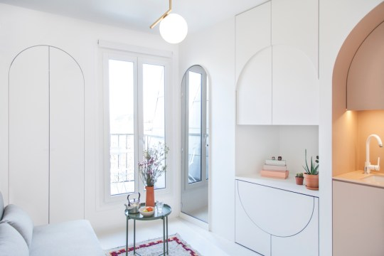 The most stylish 11m2apartment in Paris via Eclectic Trends
