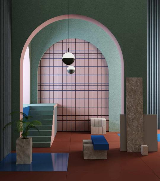 Surrealistic-Post-Soviet-atmosphere-in-Supaform-Yalta-foyer-eclectic-trends