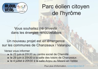 Affiche éo-lien Parc éolien citoyen de l'Hyrôme