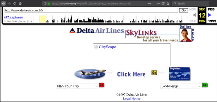 Atlanta Delta Airlines Wayback