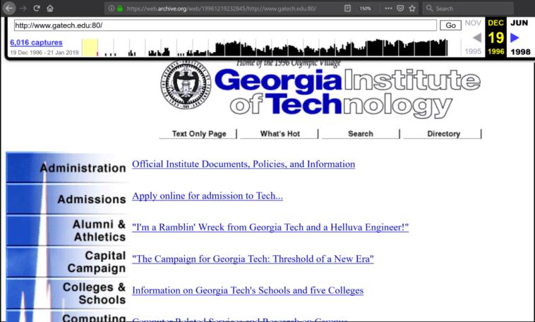Atlanta Georgia Tech Wayback