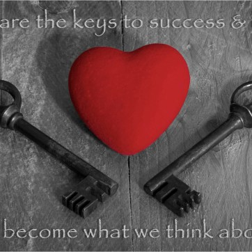 Keys & Red Heart