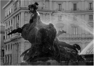 Bronze Nymph, Fountain Della Naiadi, Rome, Travel Photography, Fountain
