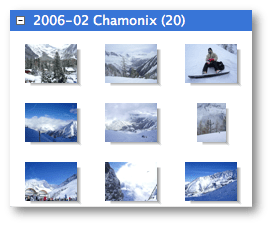 Gallery lets you display any number of items organised in groups. Several group and item renderers are available with support for dynamic item size, drop shadows, auto margins, icon and list styles.