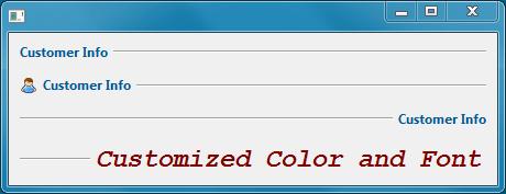 This widget proposes an enhanced separator.