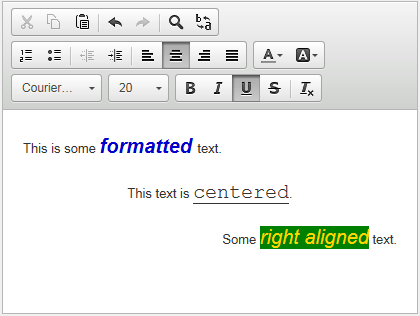 RichText - Embeddable rich text controls for editing and rendering HTML formatted text.