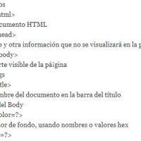 Etiquetas del código html más importantes