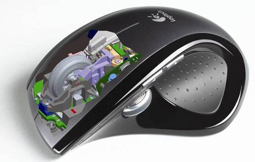 Ratón láser y teclado con pantalla LCD de Logitech | Eclixxo.com