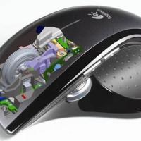 Ratón láser y teclado con pantalla LCD de Logitech