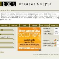 Csstxt.com editor CSS en linea