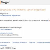 Configurar un blog privado en Blogger