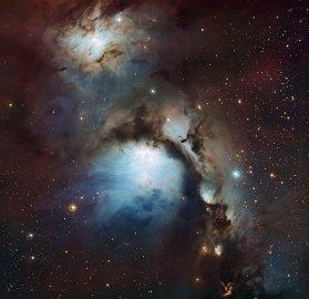 10 Messier 78 a reflection nebula in Orion (116,3 x 120 cm) VERKOCHT